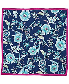 Tropical Floral Silk Square Scarf