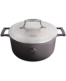 Selects 5-Qt. Cast Iron Casserole with Stainless Steel Lid
