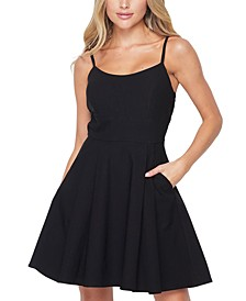 Juniors' Fit & Flare Dress