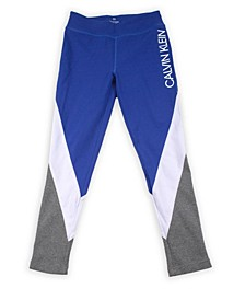 Big Girls Colorblock Legging with Rib Screenprint