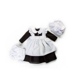 """18"""" Doll Clothes, 4 Piece Scullery Kitchen Maid Outfit, Compatible with American Girl Dolls"""