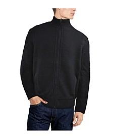 Men's Full-Zip High Neck Sweater Jacket
