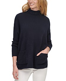 Patch-Pocket Turtleneck Sweater