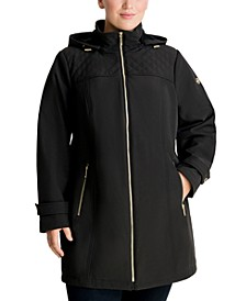 Plus Size Hooded Raincoat, Created for Macy's
