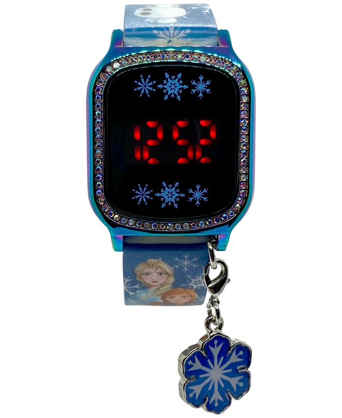 Accutime - Kid's Frozen 2 Blue Silicone Strap Touch Screen Watch 36x33mm