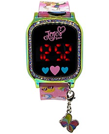 Kid's Jojo Siwa Pink Silicone Strap Touchscreen Watch 36x33mm