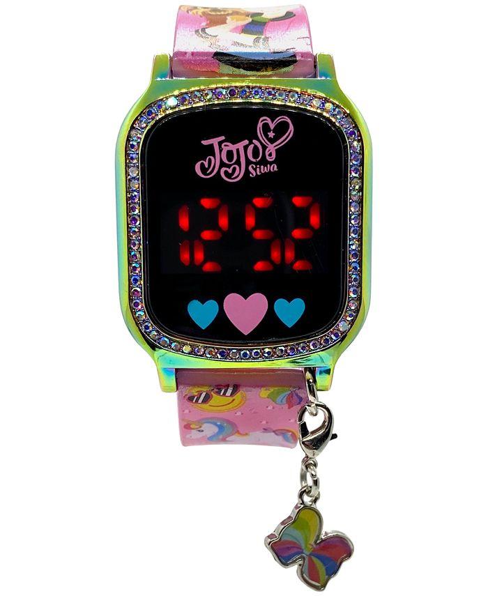 Accutime - Kid's Jojo Swia Pink Silicone Strap Touchscreen Watch 36x33mm