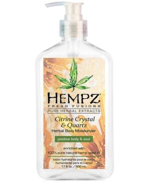 Fresh Fusions Citrine Crystal & Quartz Herbal Body Moisturizer