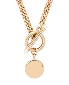 14K Rose Gold Plated Stella Pearl Toggle Necklace