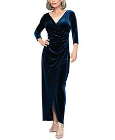 Velvet Surplice Gown