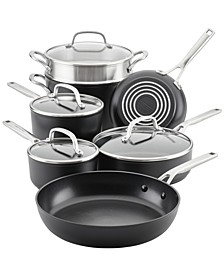 Hard-Anodized Aluminum Nonstick 11-Pc. Cookware Set