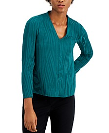 Textured V-Neck Blouse, Created for Macy's