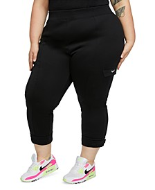 Plus Size Adjustable-Cuff Cargo Pants