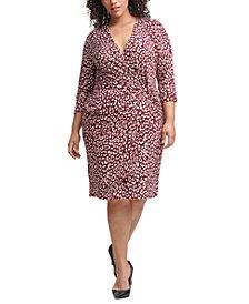 Jessica Howard Plus Size Side-Twist Dress