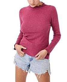 Women's Leona Lettuce Edge Long Sleeve Top