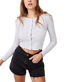 Women's Cori Crop Button Through Cardigan