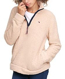 Fuzzy Zip-Up Sweatshirt