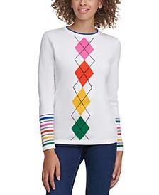 Lucy Cotton Argyle Sweater
