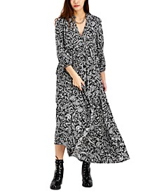 INC Printed Puff-Sleeve Maxi Dress, Created for Macy's