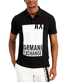 Men's Regular-Fit Block Graphic Polo Shirt, Created for Macy's