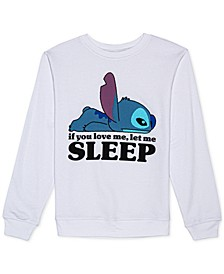 Juniors' Stitch Graphic Sweatshirt