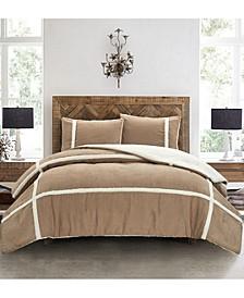 Suede/Sherpa 3Pc King Comforter Set