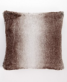 "Ombre Faux Fur 20"" x 20"" Decorative Pillow, Created For Macy's"