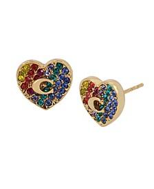 Heart Swarovski® Crystals Stud Earrings