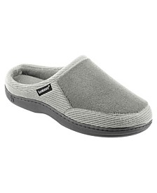 Men's Memory Foam Microterry and Waffle Travis Hoodback Slippers