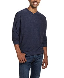 Men's Soft Touch Henley Sweater
