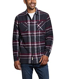 Men's Flannel Sherpa Lined Plaid Shirt Jacket