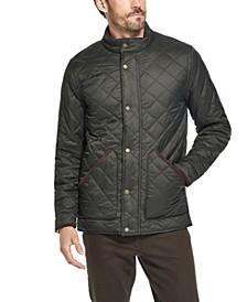 Men's Diamond Quilted Nylon Jacket