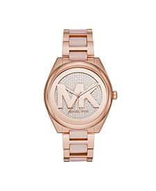 Women's Janelle Two-Tone Stainless Steel Bracelet Watch 42mm
