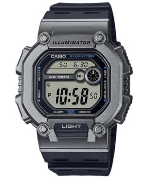 Men's Digital Navy Resin Strap Watch 51.9mm