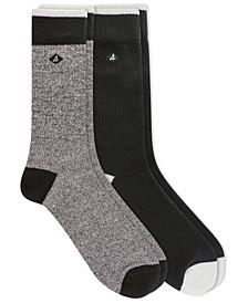 Men's 2-Pack Crew Socks