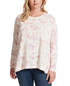 Trendy Plus Size Amara Cotton Tie-Dyed Top