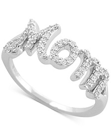 Diamond Mom Ring (1/4 ct. t.w.) in Sterling Silver