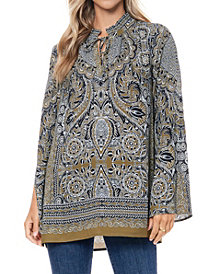Fever Split Sleeve Tunic Blouse