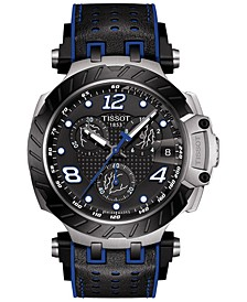 Men's Swiss Chronograph T Race Thomas Luthi 2020 Limited Edition Black Rubber Strap Watch 43mm