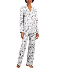Soft Brushed Cotton Pajama Set, Created for Macy's