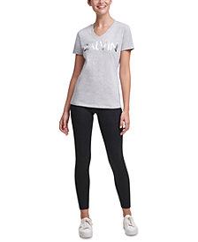 Calvin Klein Performance Logo V-Neck T-Shirt