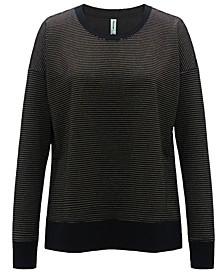 Metallic-Stripe Sweatshirt, Created for Macy's