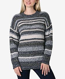 Ultra Flirt Juniors' Striped Tunic Sweater