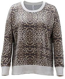 Animal-Print Crewneck Sweatshirt, Created for Macy's