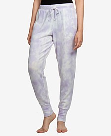 Juniors' Tie-Dyed Cozy Knit Jogger Pants