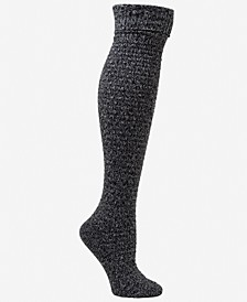 Women's Cable Turn-Cuff Knee Socks