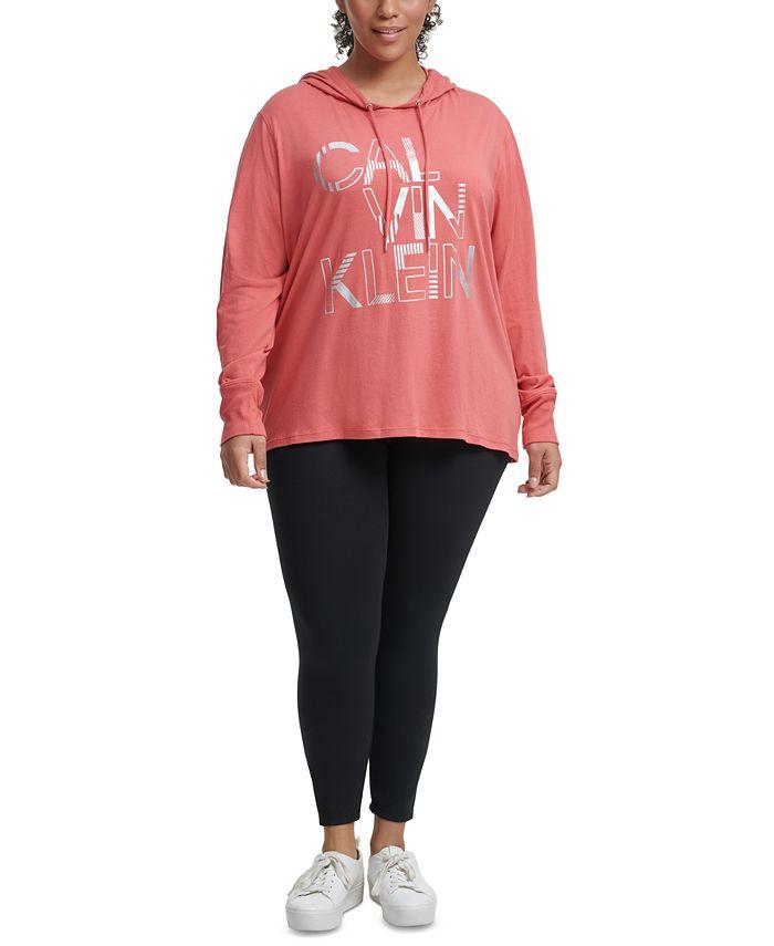 Calvin Klein - Plus Size Offset Stripe Remix Logo Hoodie