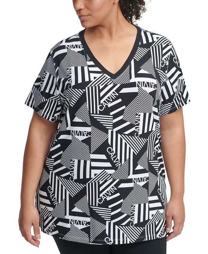 Calvin Klein - Plus Size Stripe Remix Top