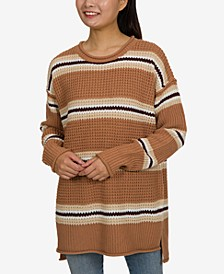 Juniors' Tunic Sweater