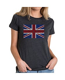 Women's Premium Blend T-Shirt with God Save The Queen Word Art